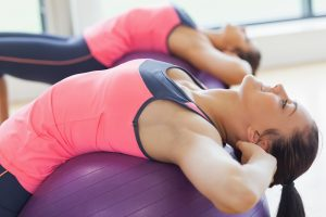 yoga for lower back pain and sciatica ball